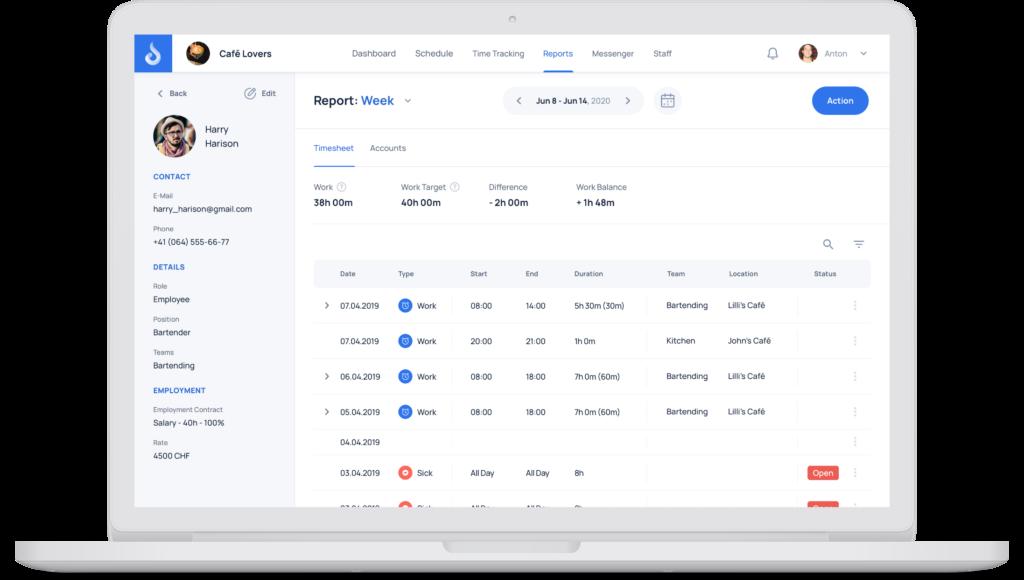 JobDone Web App - Reports